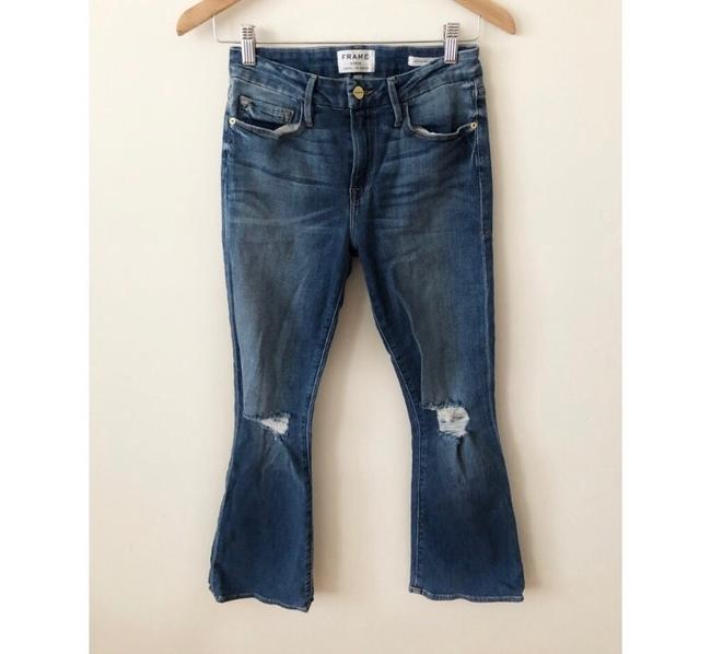 FRAME Boot Cut Jeans-Distressed Image 3