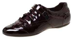 Louis Vuitton Patent Leather Rubber Leather Burgundy Athletic