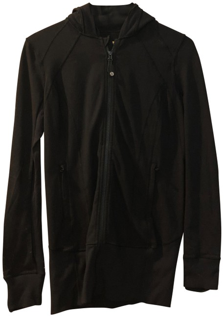 Item - Black Zip Activewear Outerwear Size 6 (S)