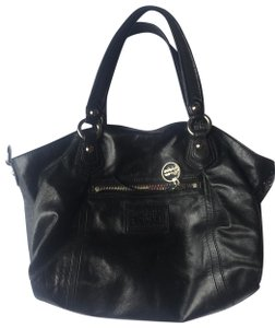 Coach Satchel in black with silver hardware
