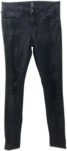 Just Black Distressed Denim Distressed Skinny Jeans-Distressed