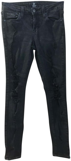 Preload https://img-static.tradesy.com/item/26007787/black-distressed-very-jeansdenim-skinny-jeans-size-27-4-s-0-2-650-650.jpg