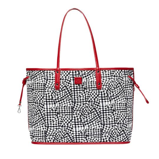 MCM Tote in Red And White Image 1