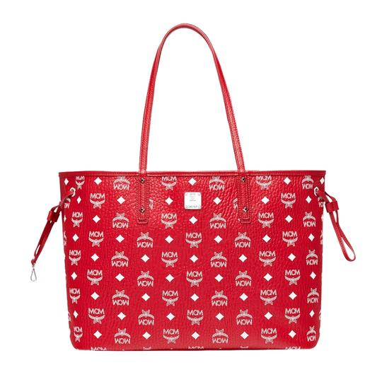 MCM Tote in Red And White Image 2