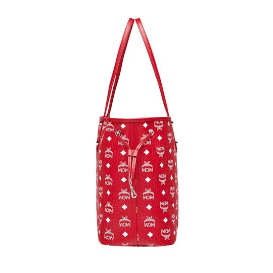 MCM Tote in Red And White Image 4