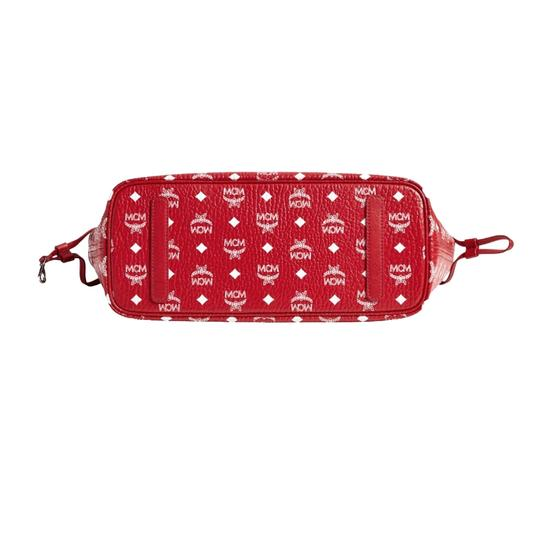 MCM Tote in Red And White Image 5