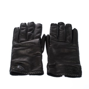 Gucci Gucci Black Leather Gloves Size 9.5
