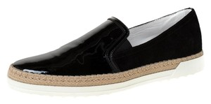 Tod's Suede Patent Leather Black Athletic