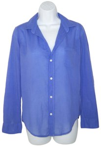 Frank & Eileen Barry Cotton Voile Periwinkle Button Down Shirt