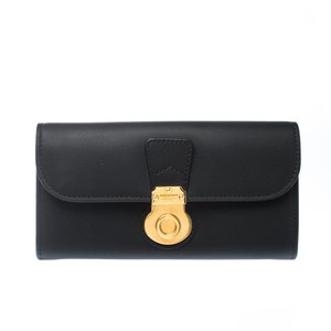 Burberry Black Letaher Halton Continental Wallet