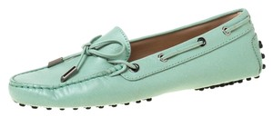 Tod's Leather Rubber Green Flats