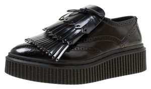 Burberry Leather Rubber Black Flats