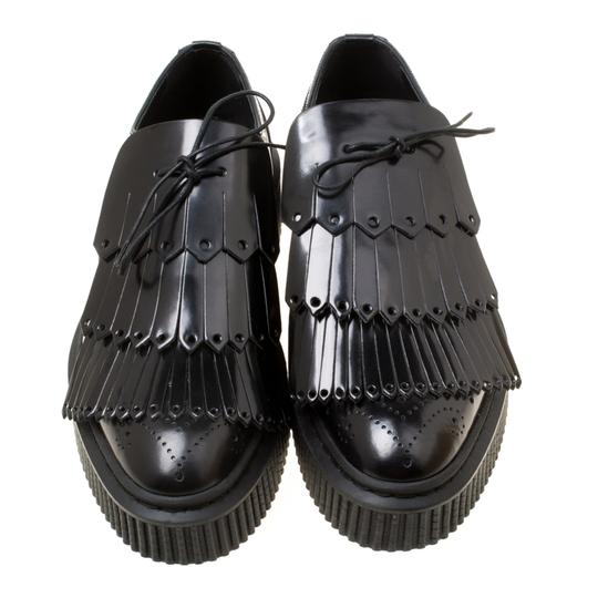 Burberry Leather Rubber Black Flats Image 1