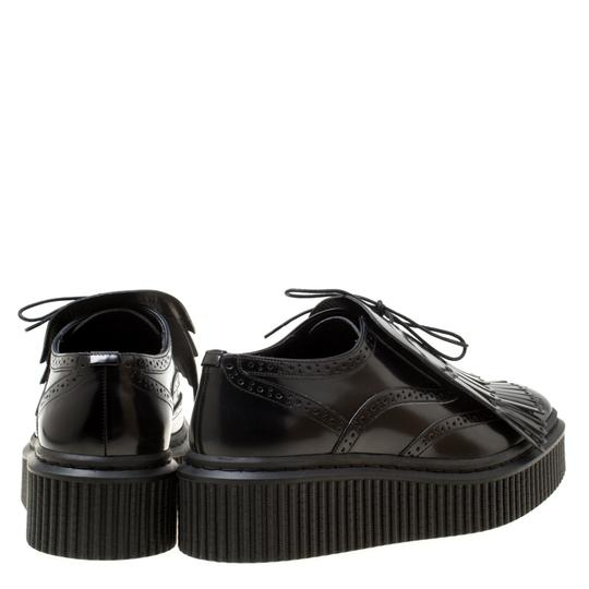 Burberry Leather Rubber Black Flats Image 2