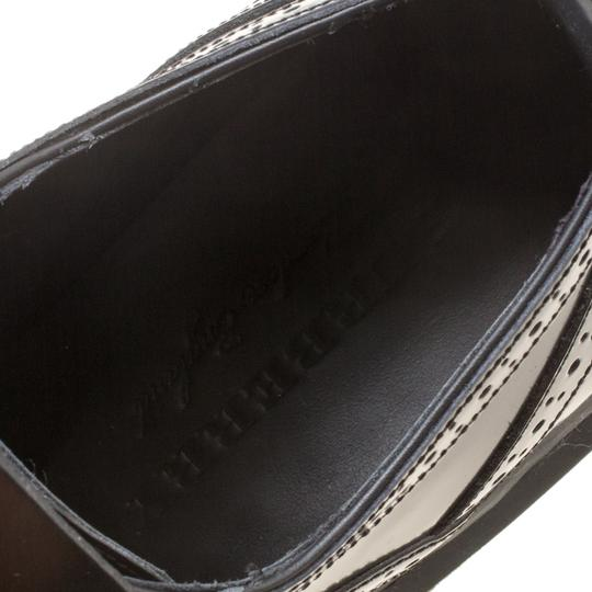 Burberry Leather Rubber Black Flats Image 7