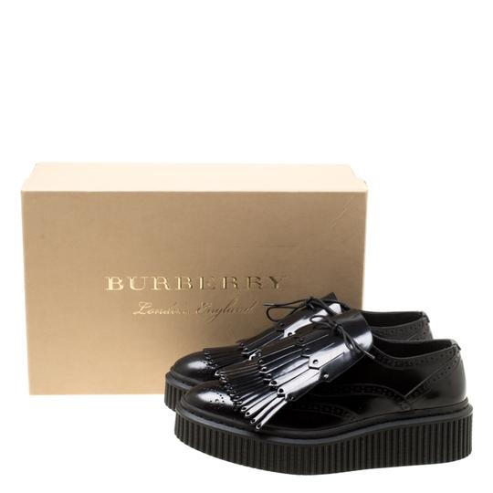 Burberry Leather Rubber Black Flats Image 8