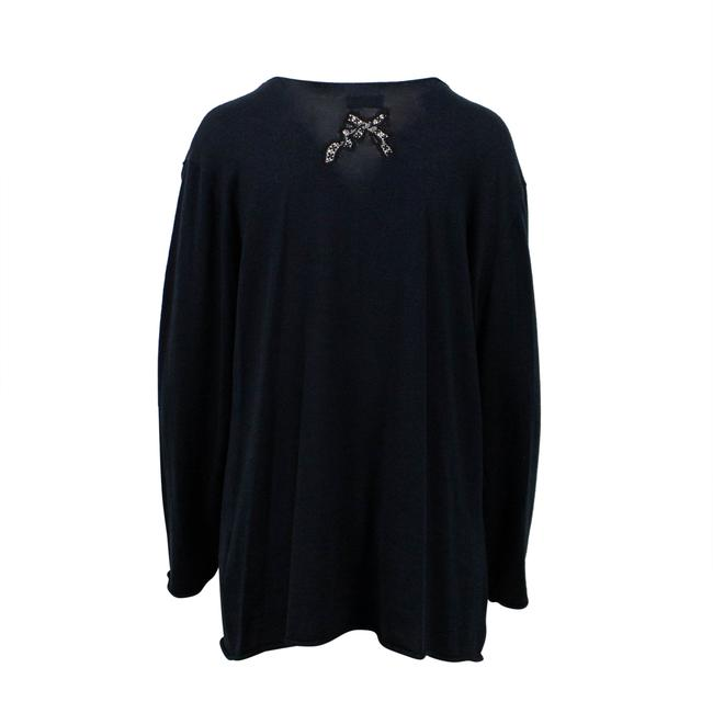 RED Valentino Longsleeve Silk Cashmere Sheer Lace Sweater Image 1