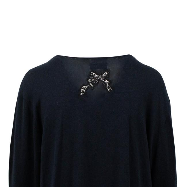 RED Valentino Longsleeve Silk Cashmere Sheer Lace Sweater Image 3