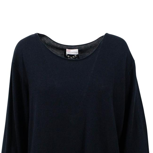 RED Valentino Longsleeve Silk Cashmere Sheer Lace Sweater Image 4