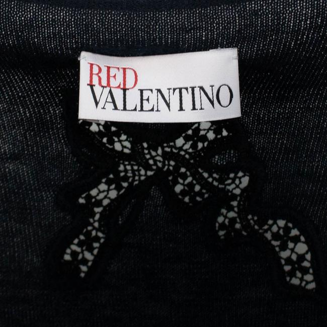 RED Valentino Longsleeve Silk Cashmere Sheer Lace Sweater Image 5