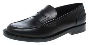 Burberry Leather Penny Black Flats