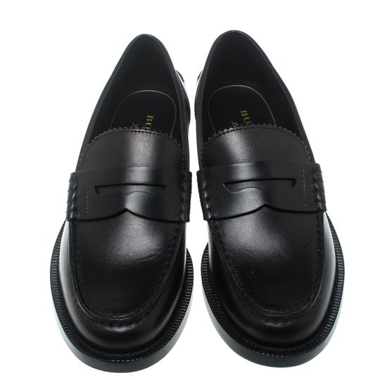 Burberry Leather Penny Black Flats Image 1