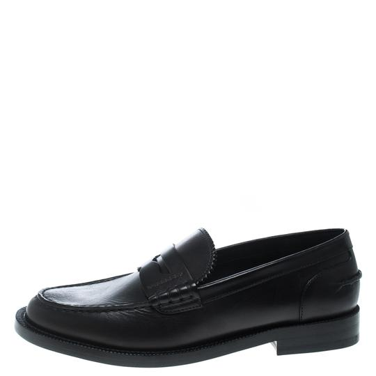 Burberry Leather Penny Black Flats Image 4