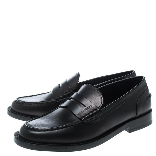 Burberry Leather Penny Black Flats Image 5