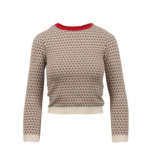 RED Valentino Wool Knit Longsleeve Viscose Floral Sweater