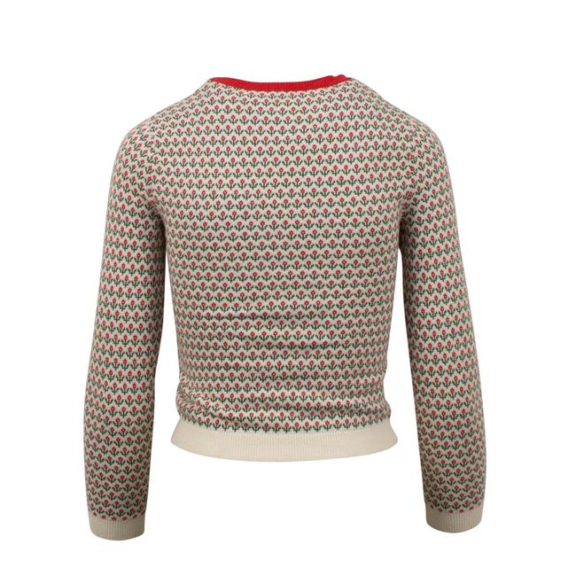 RED Valentino Wool Knit Longsleeve Viscose Floral Sweater Image 1