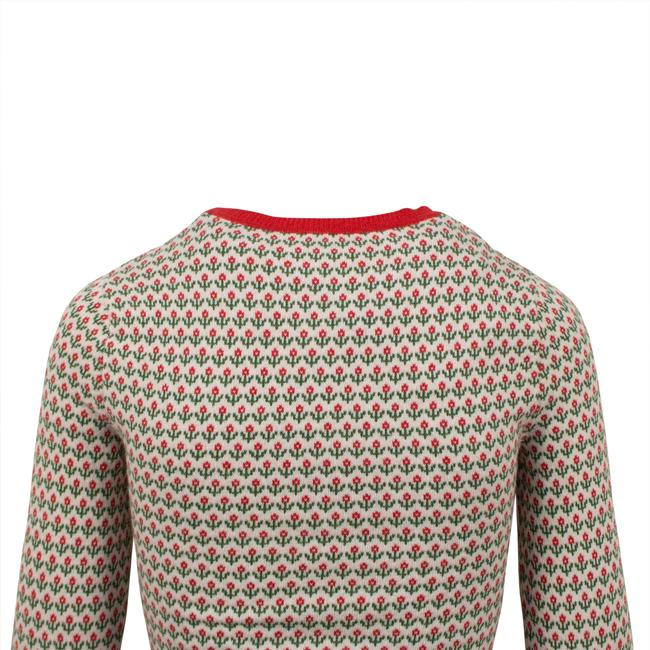 RED Valentino Wool Knit Longsleeve Viscose Floral Sweater Image 4