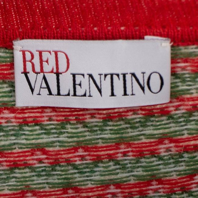 RED Valentino Wool Knit Longsleeve Viscose Floral Sweater Image 5