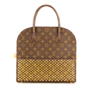 Louis Vuitton Monogram Iconoclast Christian Louboutin Tote in Brown/Red
