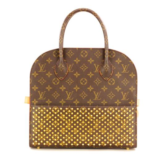 Preload https://img-static.tradesy.com/item/26008079/louis-vuitton-monogram-iconoclast-christian-louboutin-brownred-naxos-leather-tote-0-0-540-540.jpg