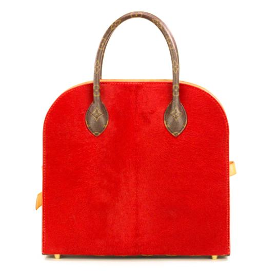 Louis Vuitton Monogram Iconoclast Christian Louboutin Tote in Brown/Red Image 2