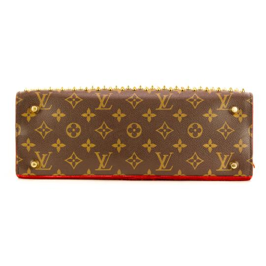 Louis Vuitton Monogram Iconoclast Christian Louboutin Tote in Brown/Red Image 3