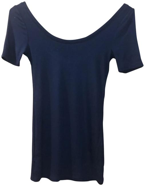 Item - Navy Saturday Sunday Scoop Neck Tee Shirt Size 2 (XS)