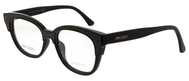Jimmy Choo Dark Brown Glitter Jc177-19k-51 Eyeglasses Size 51mm 17mm 145mm Jimmy Choo Dark Brown Glitter Jc177-19k-51 Eyeglasses Size 51mm 17mm 145mm Image 1