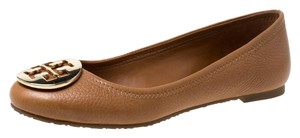 Tory Burch Leather Ballet Brown Flats