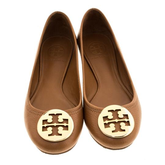 Tory Burch Leather Ballet Brown Flats Image 1