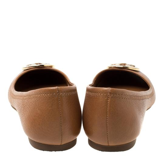 Tory Burch Leather Ballet Brown Flats Image 2