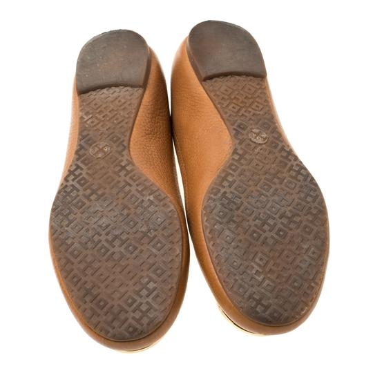 Tory Burch Leather Ballet Brown Flats Image 3