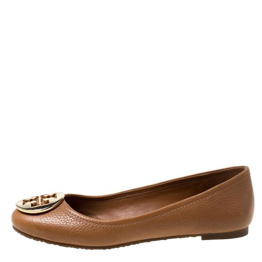 Tory Burch Leather Ballet Brown Flats Image 4