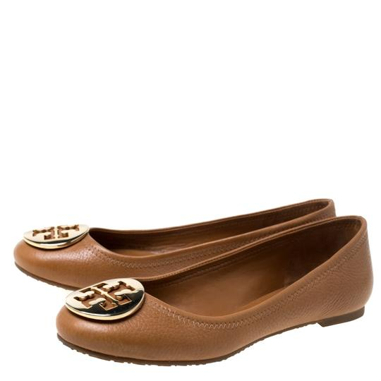 Tory Burch Leather Ballet Brown Flats Image 5