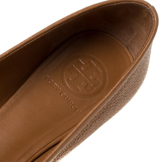 Tory Burch Leather Ballet Brown Flats Image 6