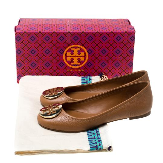 Tory Burch Leather Ballet Brown Flats Image 7