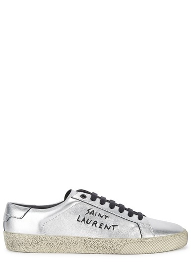 Preload https://img-static.tradesy.com/item/26008438/saint-laurent-silver-hn-court-leather-trainers-sneakers-size-eu-39-approx-us-9-regular-m-b-0-0-540-540.jpg