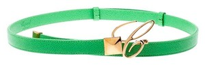 Chopard Chopard Green Leather Miss Happy Belt 105CM