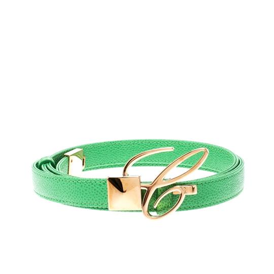 Chopard Chopard Green Leather Miss Happy Belt 105CM Image 1