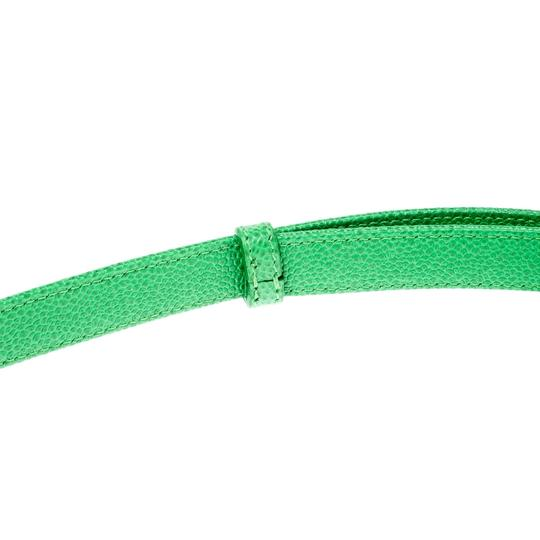 Chopard Chopard Green Leather Miss Happy Belt 105CM Image 4